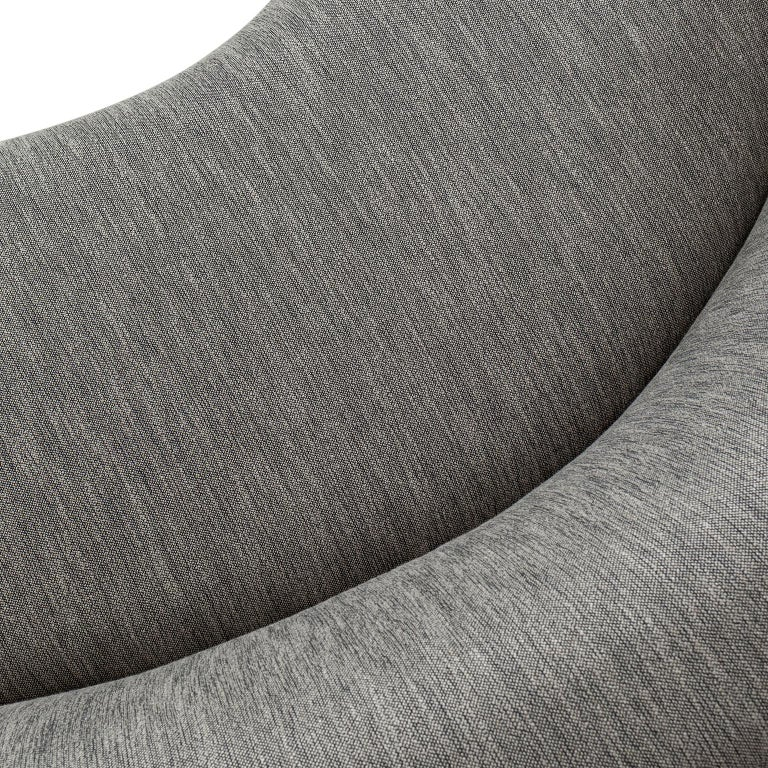 21st Century Twins 3-Seat Sofa Black Lacquer Grey Cotton-Linen Blend In New Condition For Sale In Cartaxo, PT