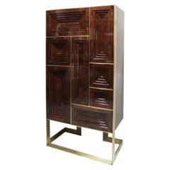 21st Century Venezia Cabinet Walnut Wood