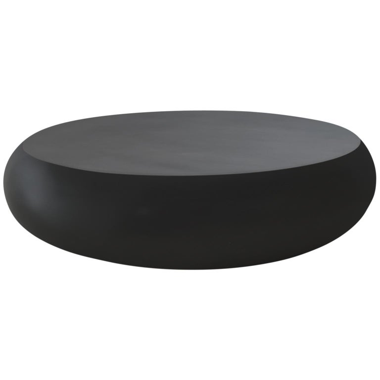 21st Century Verter Turroni Black Fibreglass Coffee Table Seat Outdoor Furniture In New Condition For Sale In Longiano, IT