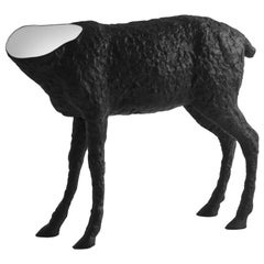 21st Century Verter Turroni Imperfettolab Black Sculpture Fibreglass Mirror