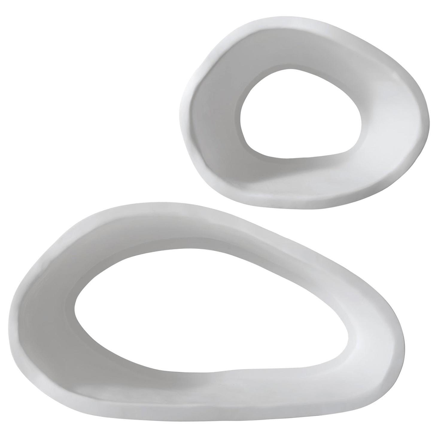 21st Century Verter Turroni White Fibreglass Modular Bookshelf Shelf Shelving