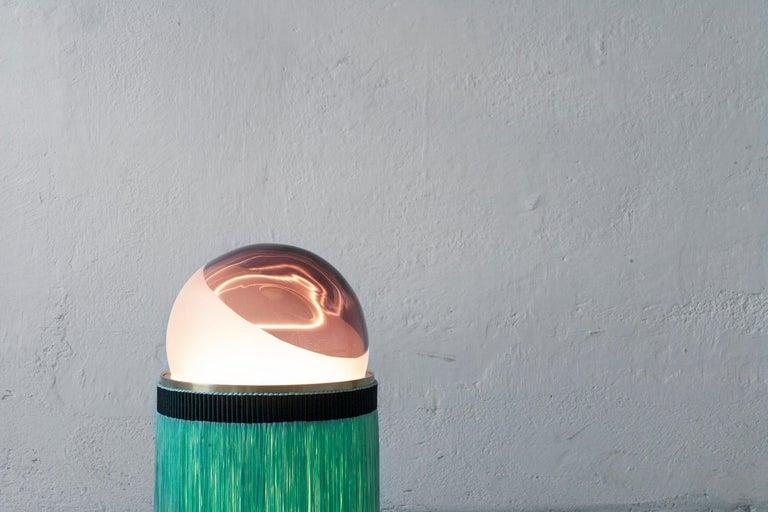Contemporary 21st Century VI+M Studio Small Lamp Murano Glass Tripolino Fringe Various Colors For Sale