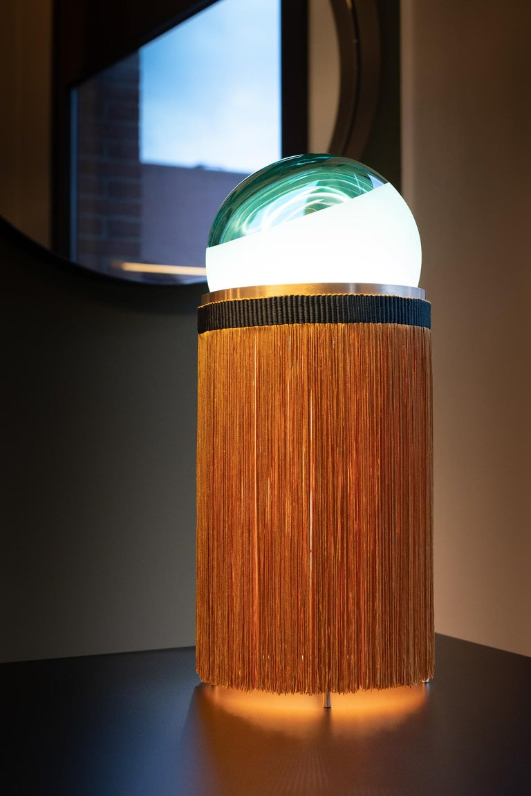 21st Century VI+M Studio Small Lamp Murano Glass Tripolino Fringe Various Colors For Sale 6