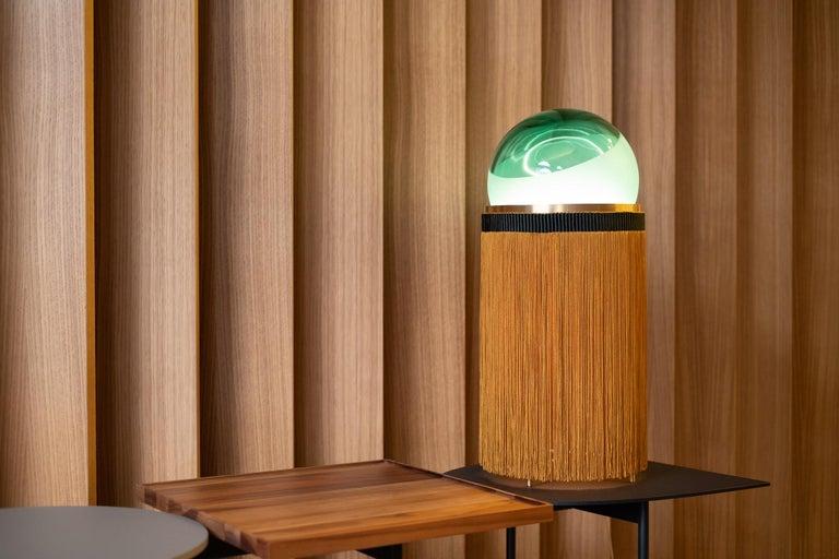 21st Century VI+M Studio Small Lamp Murano Glass Tripolino Fringe Various Colors For Sale 7