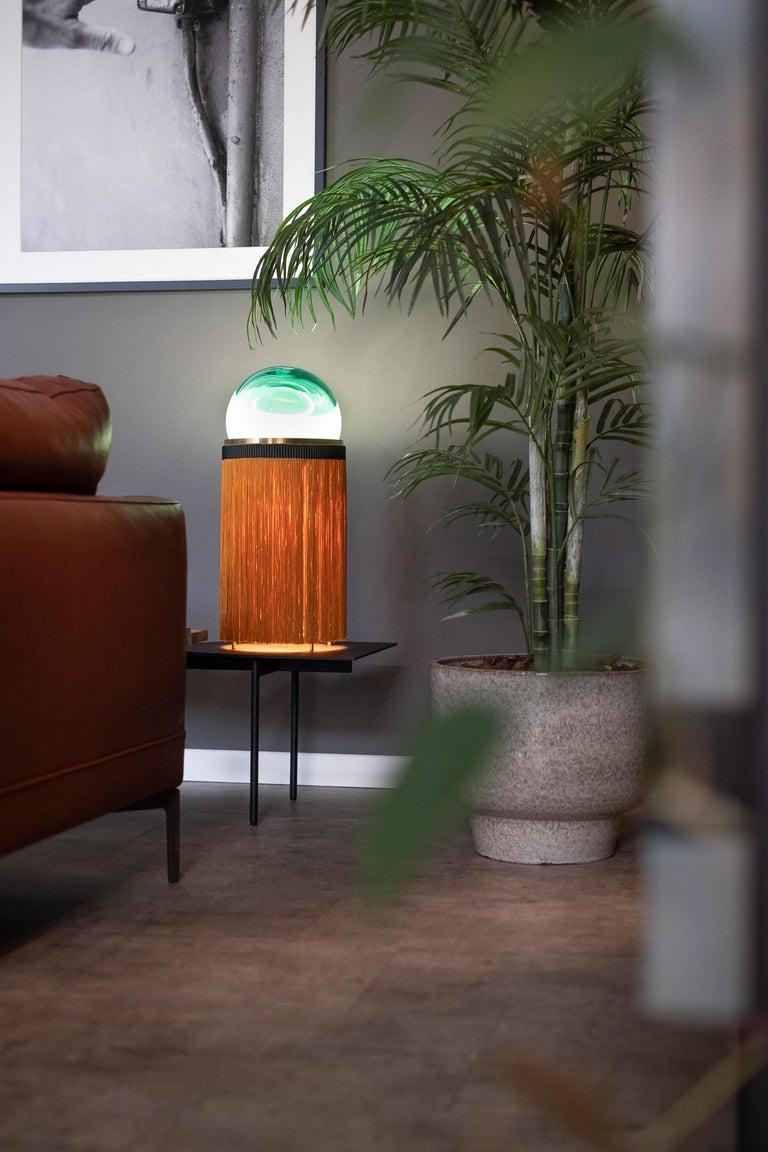 21st Century VI+M Studio Small Lamp Murano Glass Tripolino Fringe Various Colors For Sale 9