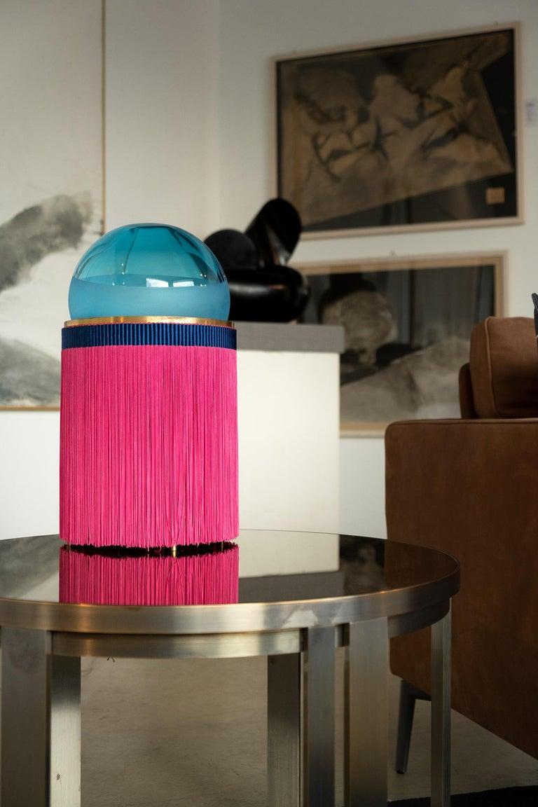 21st Century VI+M Studio Small Lamp Murano Glass Tripolino Fringe Various Colors For Sale 11