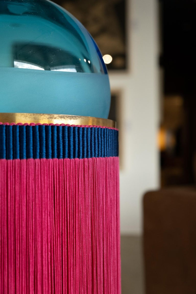 21st Century VI+M Studio Small Lamp Murano Glass Tripolino Fringe Various Colors For Sale 12
