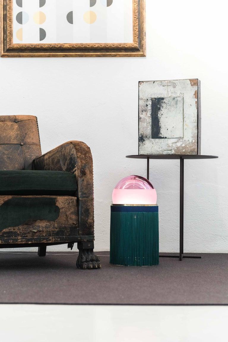 21st Century VI+M Studio Small Lamp Murano Glass Tripolino Fringe Various Colors For Sale 13