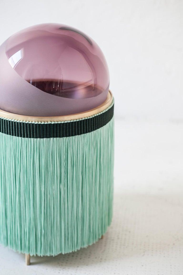 21st Century VI+M Studio Small Lamp Murano Glass Tripolino Fringe Various Colors In New Condition For Sale In Brembate di Sopra (BG), IT