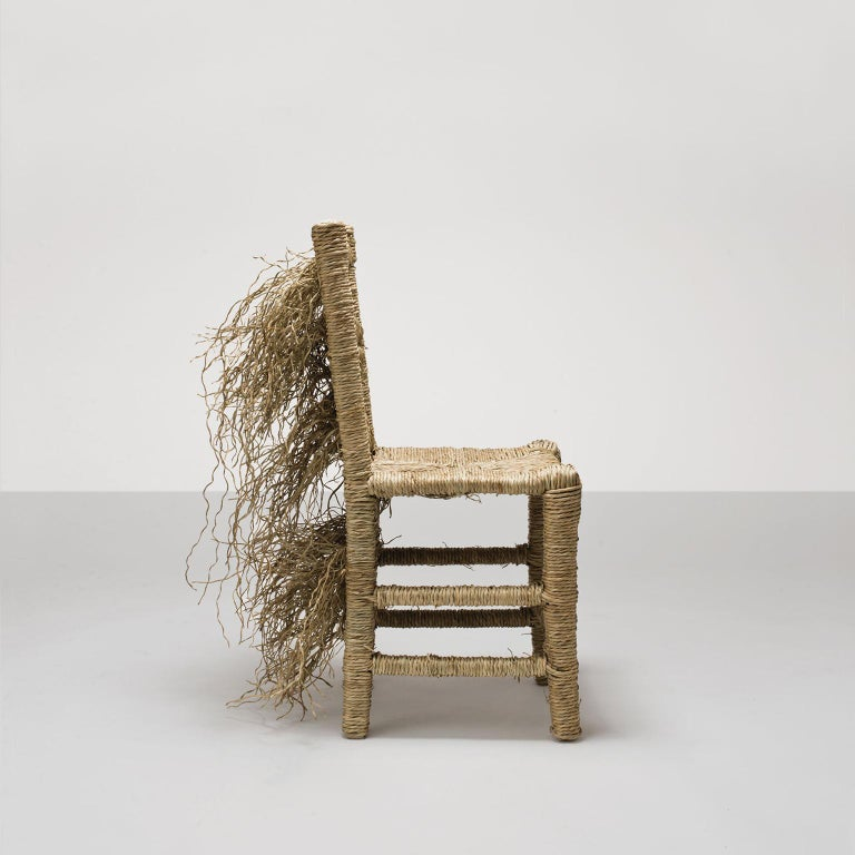Italian 21st Century Vincent III Single Chair by Atelier Biagetti Caned Natural Wood For Sale