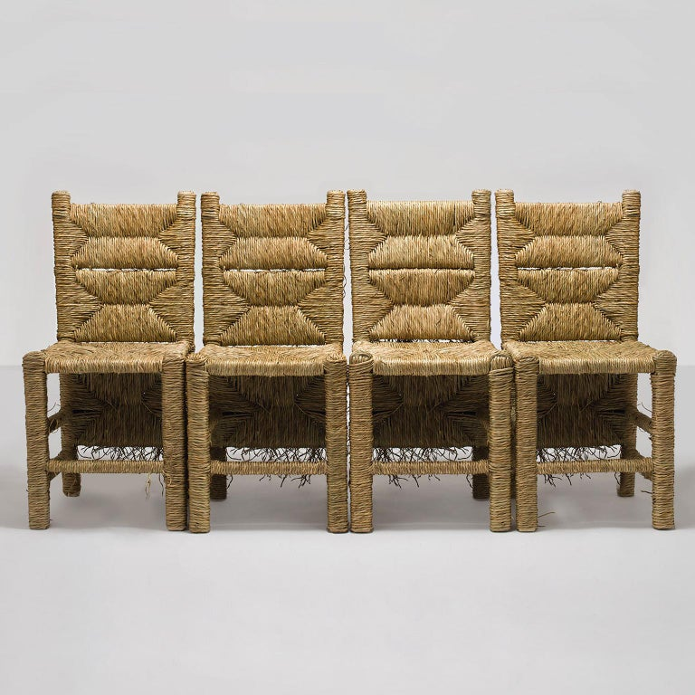 Hand-Crafted 21st Century Vincent III Single Chair by Atelier Biagetti Caned Natural Wood For Sale