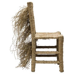 21st Century Vincent III Single Chair by Atelier Biagetti Caned Natural Wood