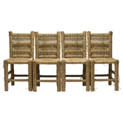21st Century Vincent IV Set of 4 Chairs by Atelier Biagetti Caned Natural Wood
