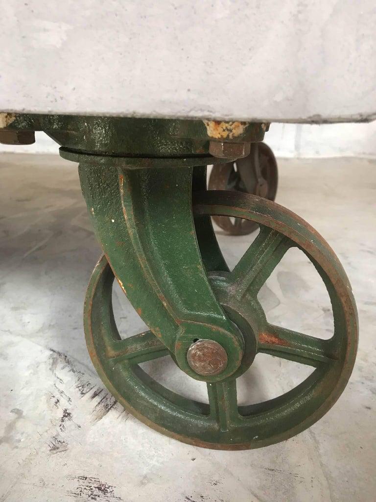 21st Century Vintage Industrial Coffee Table Wheels ...