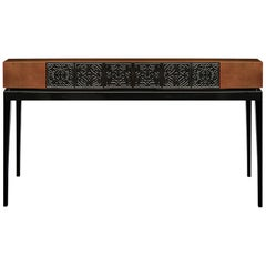 21st Century Virtuoso II Console Wooden Carved Tiles