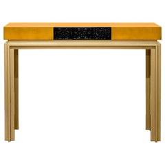 21st Century Virtuoso III Console Lacquered Wood Tiles