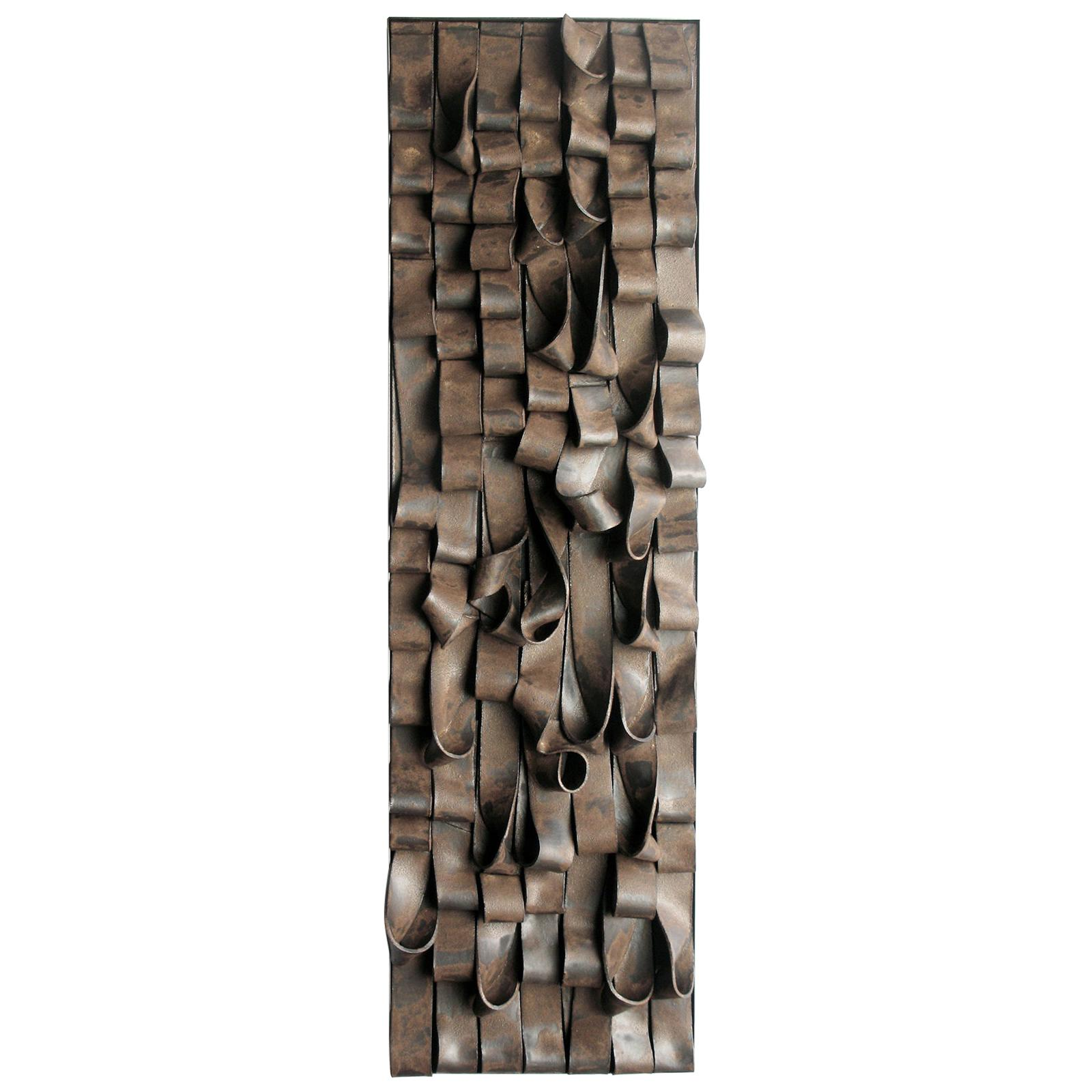 "21st Century Wall Sculpture ""OMBRE"" by Clara Graziolino Glazed Ceramic"