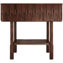 21st Century Walnut Wood Campbell Nightstand