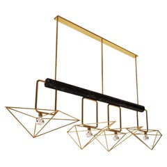 21st Century White House Suspension Lamp Marquina Marble