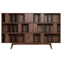21st Century Wordsworth Bookcase Walnut Wood