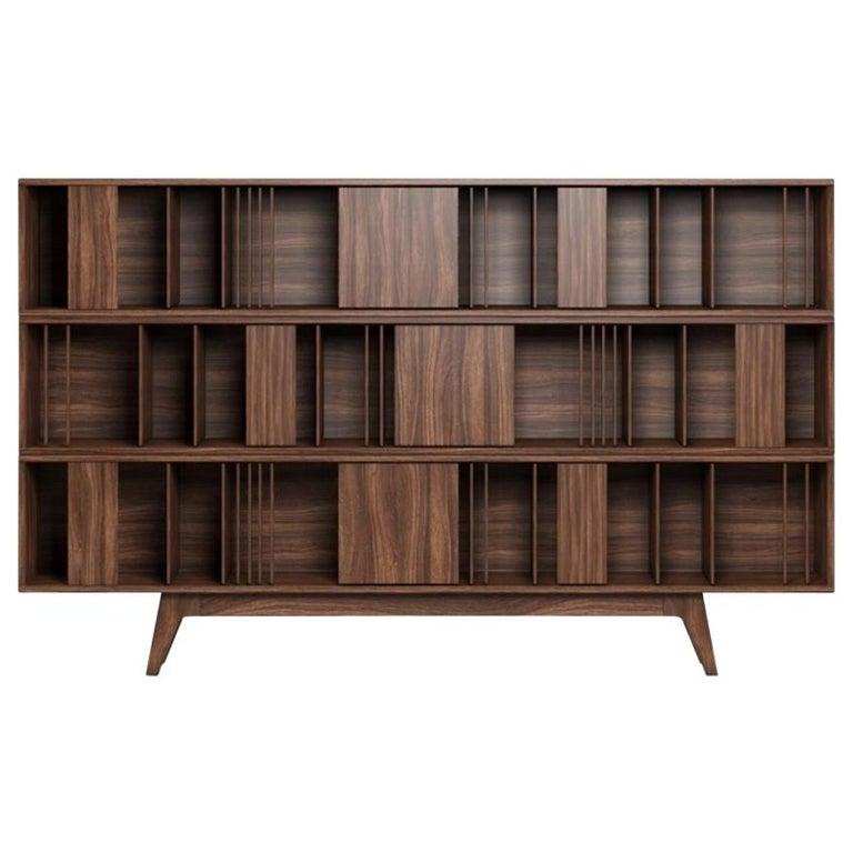 21st Century Wordsworth Bookcase Walnut Wood For Sale