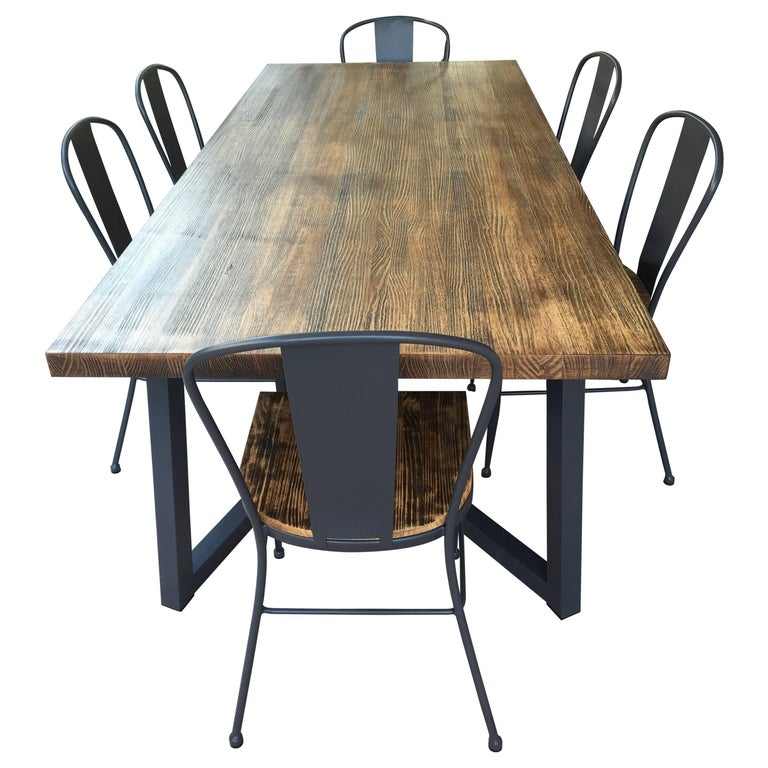 Wrought Iron Dining Table And Chairs: 21st Century Wrought Iron Set Of Patio Dining Table And