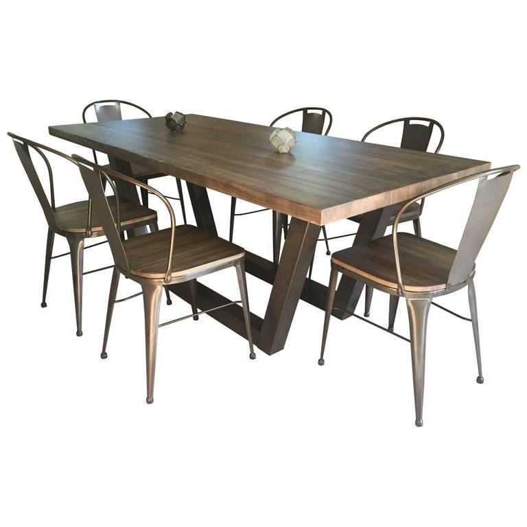 21st Century Wrought Iron Set Of Patio Or Kitchen Dinning Set