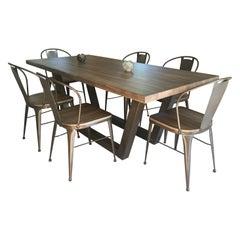 21st Century Wrought Iron Set of Patio or Kitchen Dinning Set, Indoor & Outdoor