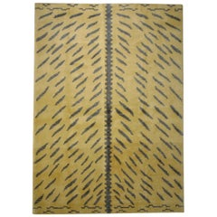 21st Century Yellow and Brown Tibetan Tiger Mantle Rug, circa 2019