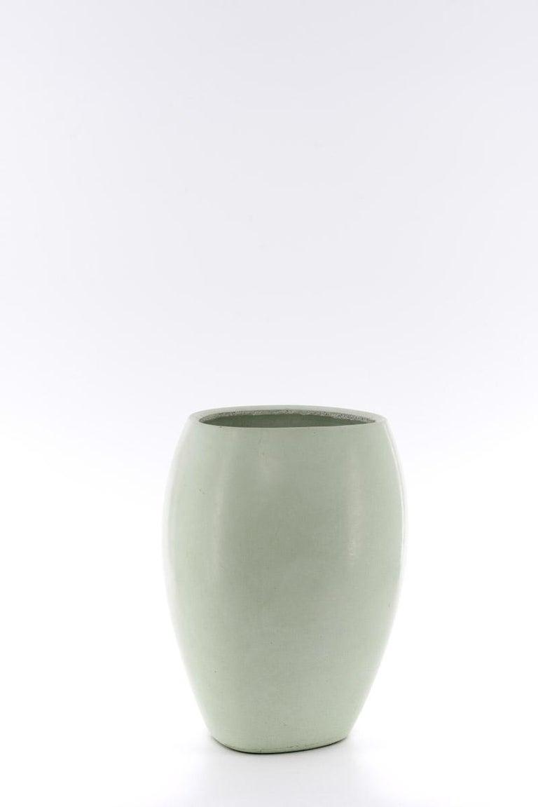 Modern 21st Century Zazen Collection Concrete Vase Dark Grey Color, Mod. II For Sale