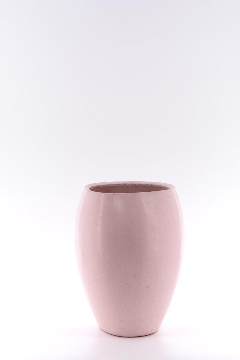 Italian 21st Century Zazen Collection Concrete Vase Dark Grey Color, Mod. II For Sale
