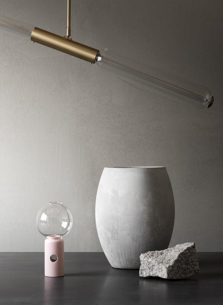 Contemporary 21st Century Zazen Collection Concrete Vase Dark Grey Color, Mod. II For Sale