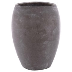 21st Century Zazen Collection Concrete Vase Dark Grey Color, Mod. II