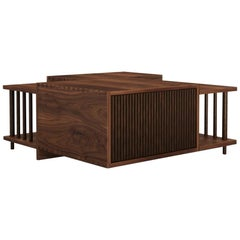 21st Century Douglas Center Table Walnut Wood