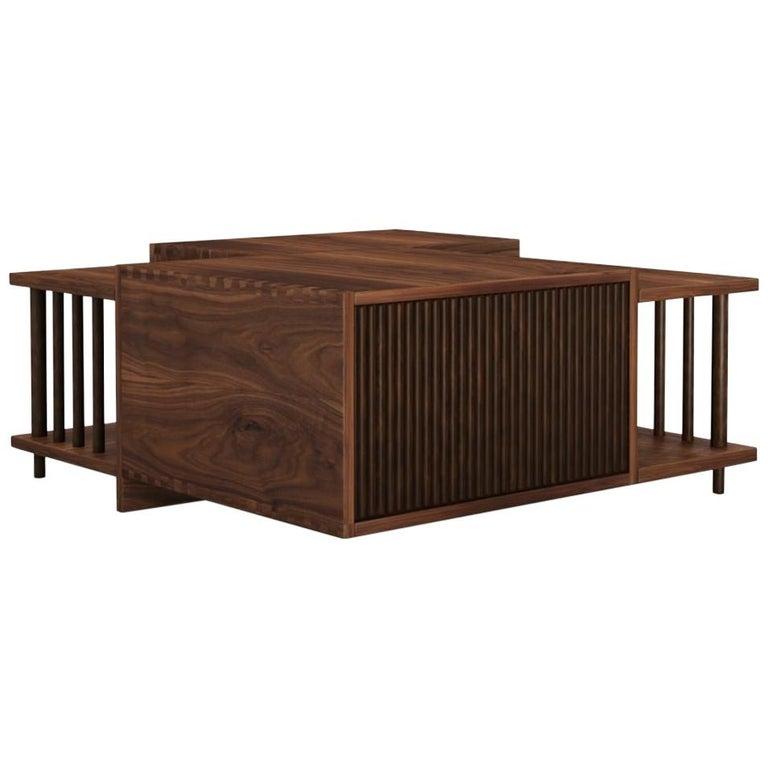 21st Century Douglas Center Table Walnut Wood For Sale