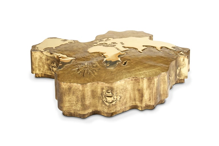 Portuguese 21st Horizon Discovery Center Table Wood  For Sale