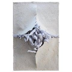 "21st Sculpture ""Lo que brota"" by Genaro Bastardo"" Paper White Modern Handmade"
