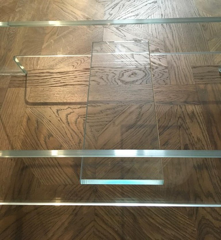 Italian Design 21st Century Clear Crystal Desk or Dining Table For Sale 11