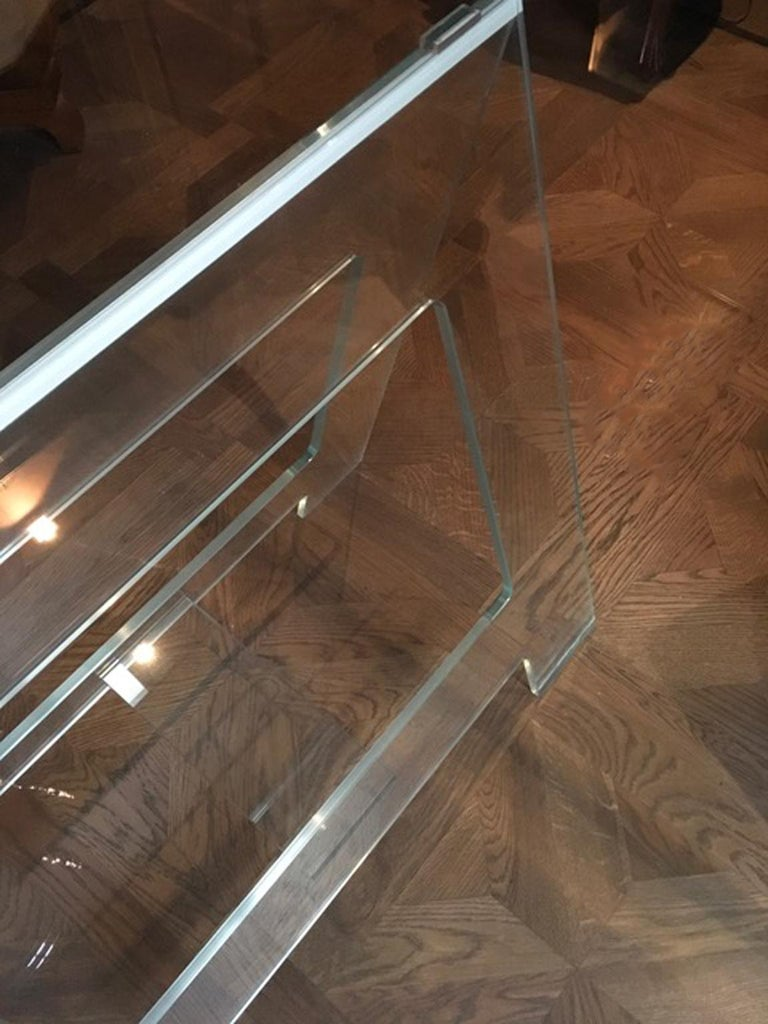 Italian Design 21st Century Clear Crystal Desk or Dining Table For Sale 2
