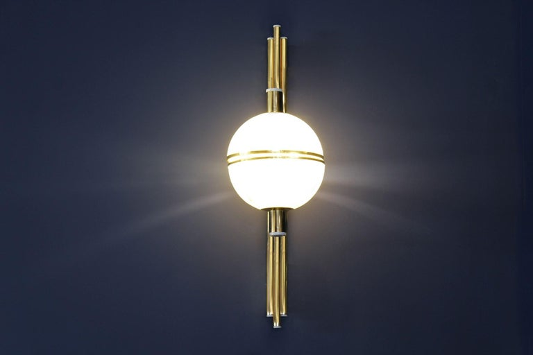 21th Century Alabaster Andros Wall Lamp Brass Designed by Creativemary For Sale 1
