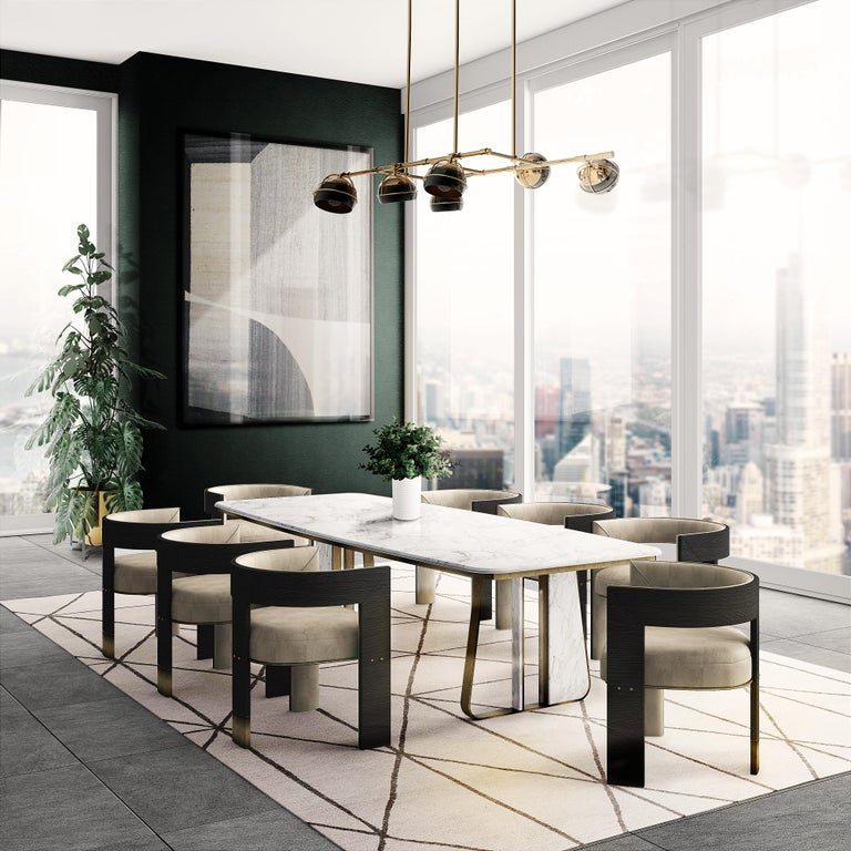 The Brooklyn dining chair is one of the newest pieces designed by Porus Studio. Since its construction, the Brooklyn Bridge become an icon of New York City. Connecting Manhattan to New York, It was the first fixed crossing across the East River.