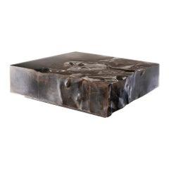 "FUCINA ""DISTORSIONI STRUCKSIDE"" Low Coffee Table Metal Waxed Oxidized Iron"