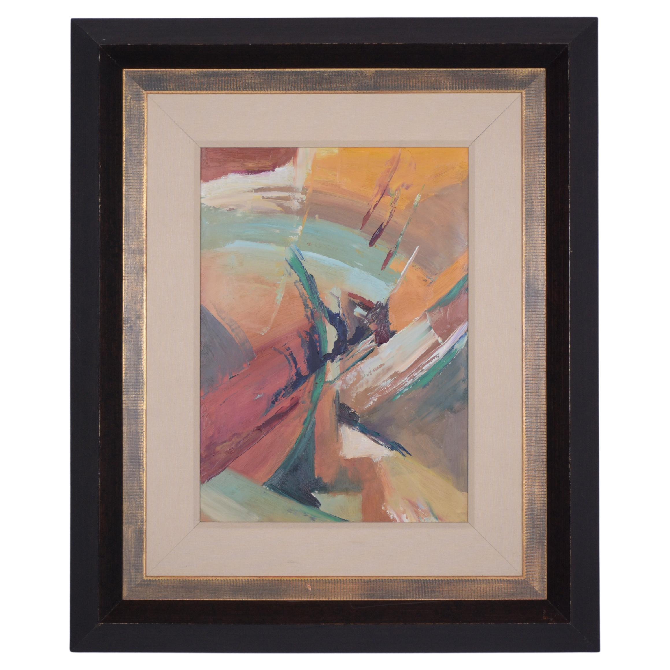 21th Century Framed Contemporary Art Acrylic Painting