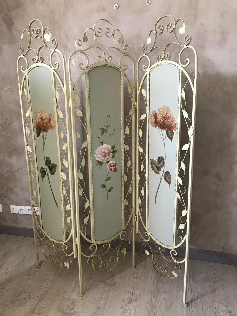 21st Century French Metal Painting Screen, 2000s In Good Condition For Sale In LEGNY, FR