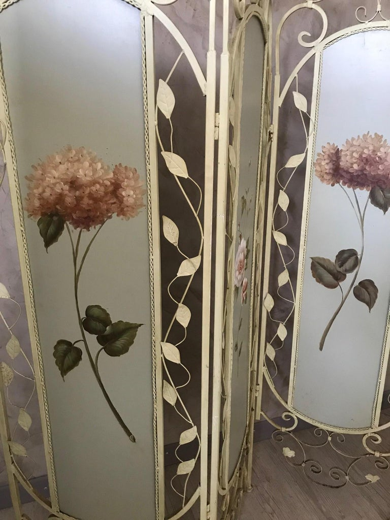 Contemporary 21st Century French Metal Painting Screen, 2000s For Sale