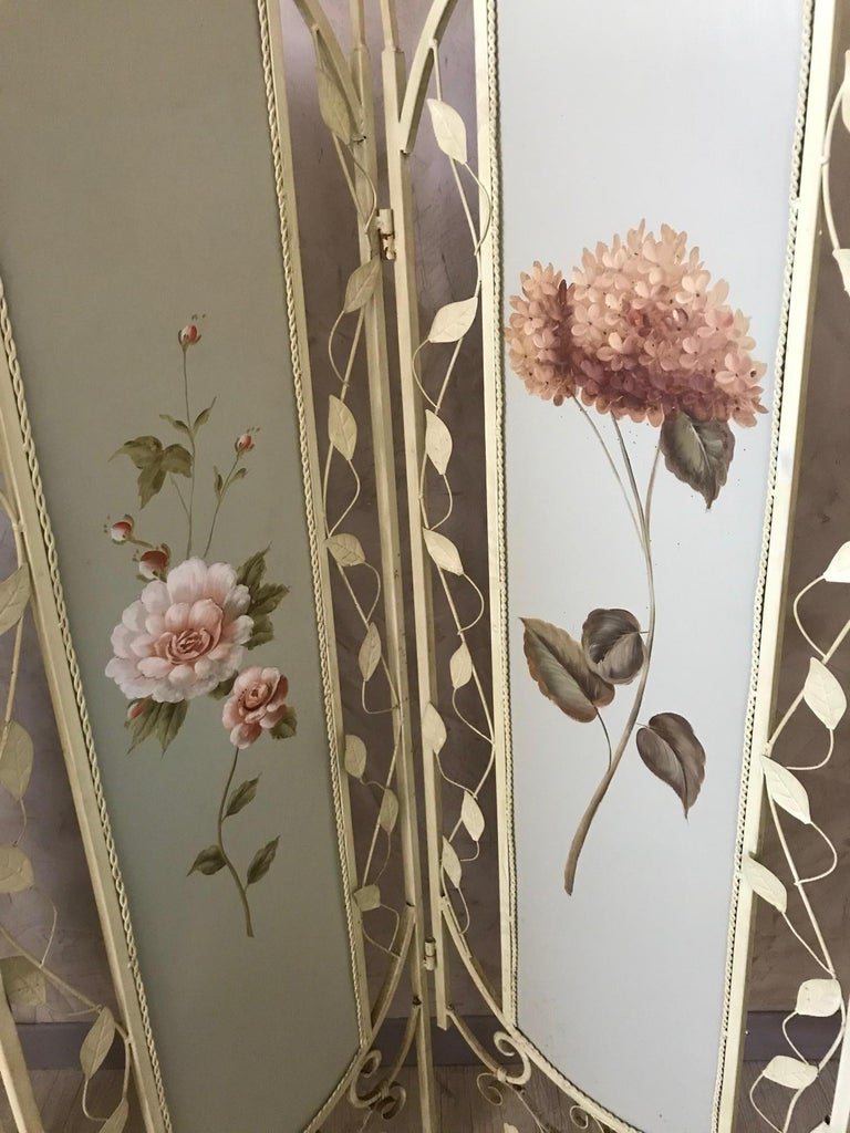 21st Century French Metal Painting Screen, 2000s For Sale 1