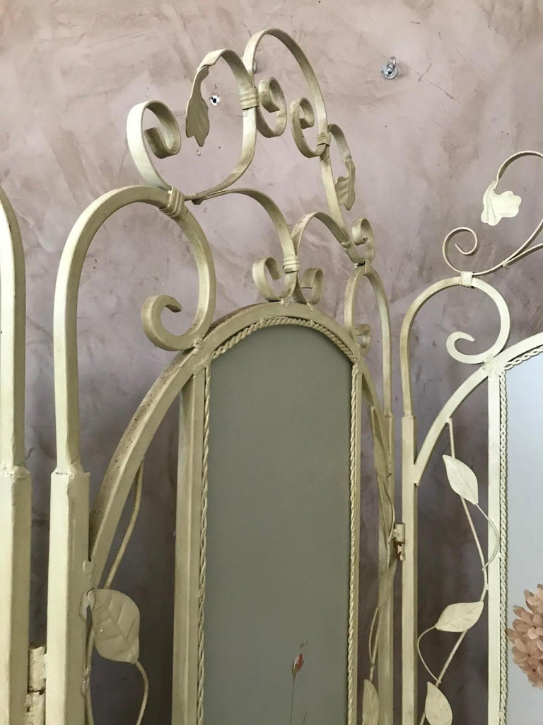 21st Century French Metal Painting Screen, 2000s For Sale 2