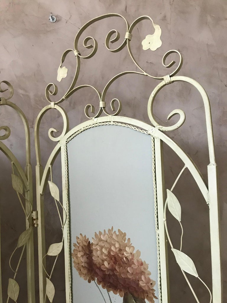 21st Century French Metal Painting Screen, 2000s For Sale 3