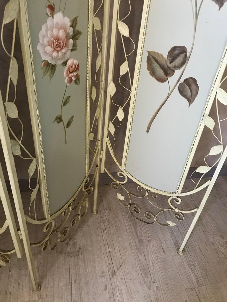 21st Century French Metal Painting Screen, 2000s For Sale 4