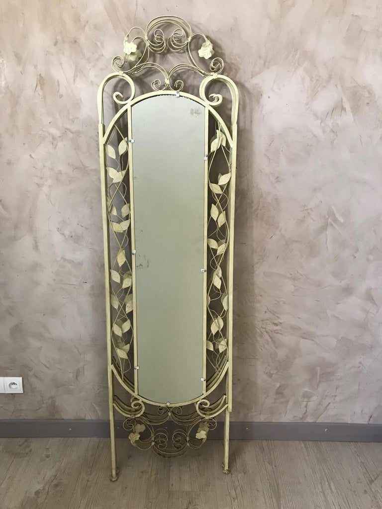 21st Century French Metal Painting Screen, 2000s For Sale 5